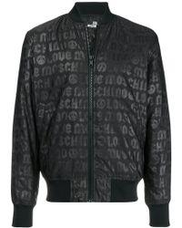 Love Moschino - Logo Zipped Bomber Jacket - Lyst