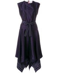 Thom Browne - Scarf-hemmed Silk Dress - Lyst