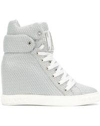 Casadei - Logomania Wedge Sneakers - Lyst