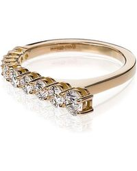 Melissa Kaye - Rose Gold Aria Ruby And Diamond Ring - Lyst