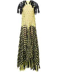 Vionnet - Ribbon Knotted Maxi Dress - Lyst