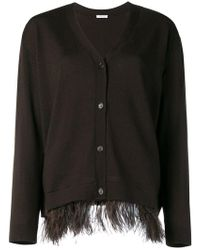 P.A.R.O.S.H. - Ostrich Feather Cardigan - Lyst