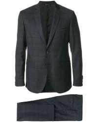 Tonello - Grid Stitched Two Piece Suit - Lyst