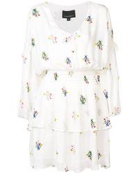 Cynthia Rowley - Celia Tie Sleeve Smocked Mini Dress - Lyst