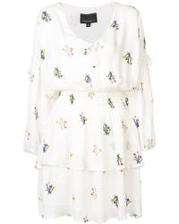Cynthia Rowley - Celia Tie Sleeve Smocked Mini Dress - Lyst