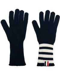 Thom Browne - Striped Rib Cuff Gloves - Lyst