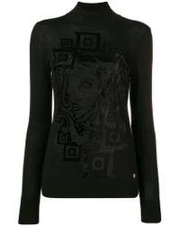 Versace - Printed Turtleneck Top - Lyst