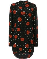 a292c8e25b89c2 Saint Laurent - Polka Dot Print Shirt - Women - Silk - 40 - Lyst