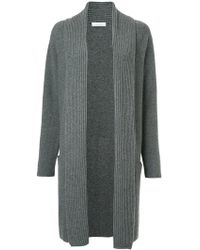 Cruciani | Ribbed Knit Cardi-coat | Lyst