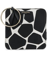 Sara Battaglia - Giraffe Print Bracelet Bag - Lyst