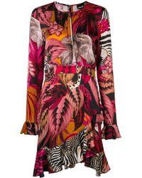 Just Cavalli - Asymmetric Tropical-print Dress - Lyst