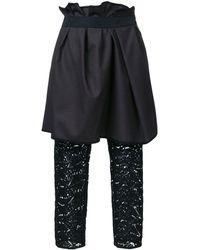 Kolor - Layered Draped Pants - Lyst