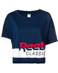 Reebok - Logo Colour-block T-shirt - Lyst