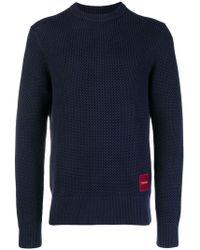 Calvin Klein - Textured Crewneck Sweater - Lyst
