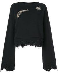 Amen | Gemstone Embellished Sweatshirt With Distressed Edges | Lyst