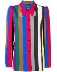 Erika Cavallini Semi Couture - Longsleeved Striped Shirt - Lyst