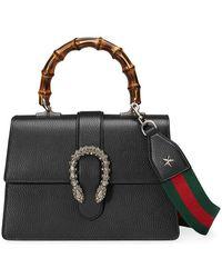 3ed70979945 Gucci Xl Mini Black Embossed Leather Shoulder Bag in Black - Lyst