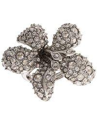 Oscar de la Renta - Bague à fleur ornée de cristaux - Lyst