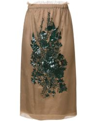 N°21 - Embroidered Skirt - Lyst