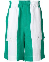 Etudes Studio - Striped Elasticated Waist Shorts - Lyst