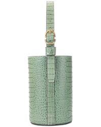 Trademark - Croc-embossed Bucket Bag - Lyst