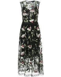 Markus Lupfer - Sheer Floral Print Dress - Lyst