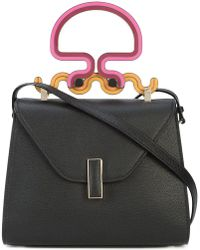 Valextra - Contrast Handle Mini Bag - Lyst