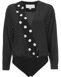Michelle Mason - Oversized Blouse Bodysuit - Lyst