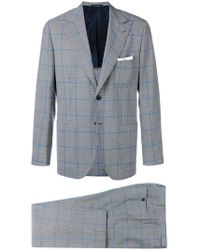 Kiton - Checked Suit - Lyst