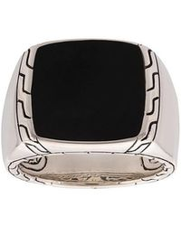 John Hardy - Classic Chain Jade Signet Ring - Lyst