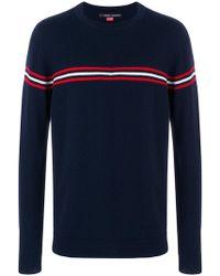 Perfect Moment - Orelle Stripe Detail Crewneck Sweater - Lyst
