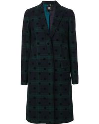 PS by Paul Smith - Tartan Button Up Coat - Lyst