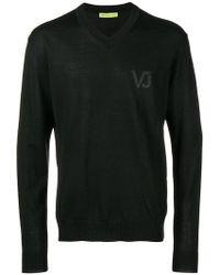 Versace Jeans - Vj Logo Jumper - Lyst
