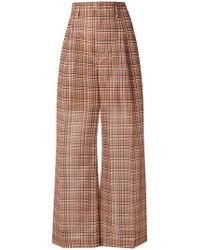 Toga Pulla - Checked Wide Leg Trousers - Lyst