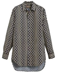 Burberry - Spot And Stripe Shirt - Lyst