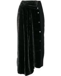 AALTO - Asymmetric Striped Midi Skirt - Lyst