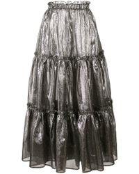 Lisa Marie Fernandez - Ruffle Details Metallic Skirt - Lyst