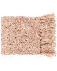 Lardini - Cable Knit Scarf - Lyst