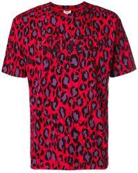 KENZO - Logo Leopard Print T-shirt - Lyst