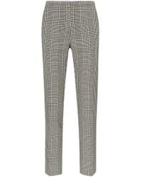 Burberry - Hanover Check Print Slim Leg Wool Trousers - Lyst
