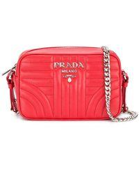Prada - Bevelled Leather Cross-body Bag - Lyst