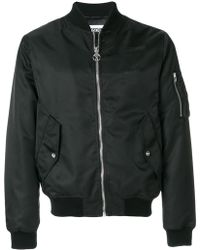 Moschino - Cropped Bomber Jacket - Lyst