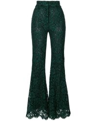 Dolce & Gabbana - Flared Lace Trousers - Lyst