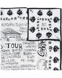 Givenchy - Tour Date Print Scarf - Lyst