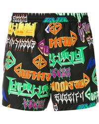 d76515c877 Gucci Gg Swim Shorts in Black for Men - Lyst