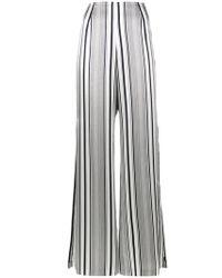 Jonathan Simkhai - Striped Flared Trousers - Lyst