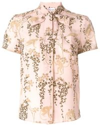 RED Valentino - Monkey And Foliage Print Shirt - Lyst