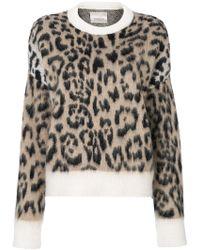 Laneus - Leopard Pattern Jumper - Lyst