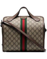 2e7e9d11abc3 Gucci - Beige And Brown Supreme Ophidia Mini Duffle Bag Tote - Lyst