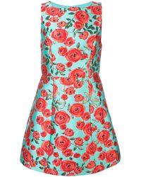 Alice + Olivia Lindsey Floral Print Dress